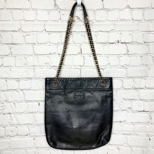 Tory Burch Marion Pebbled Leather Tote Purse